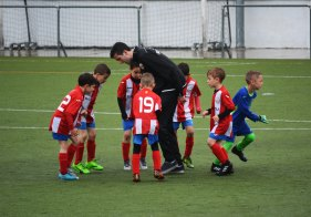 Coach with kids